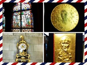 Bildes no katedrāles dārgumu glabātuves.
